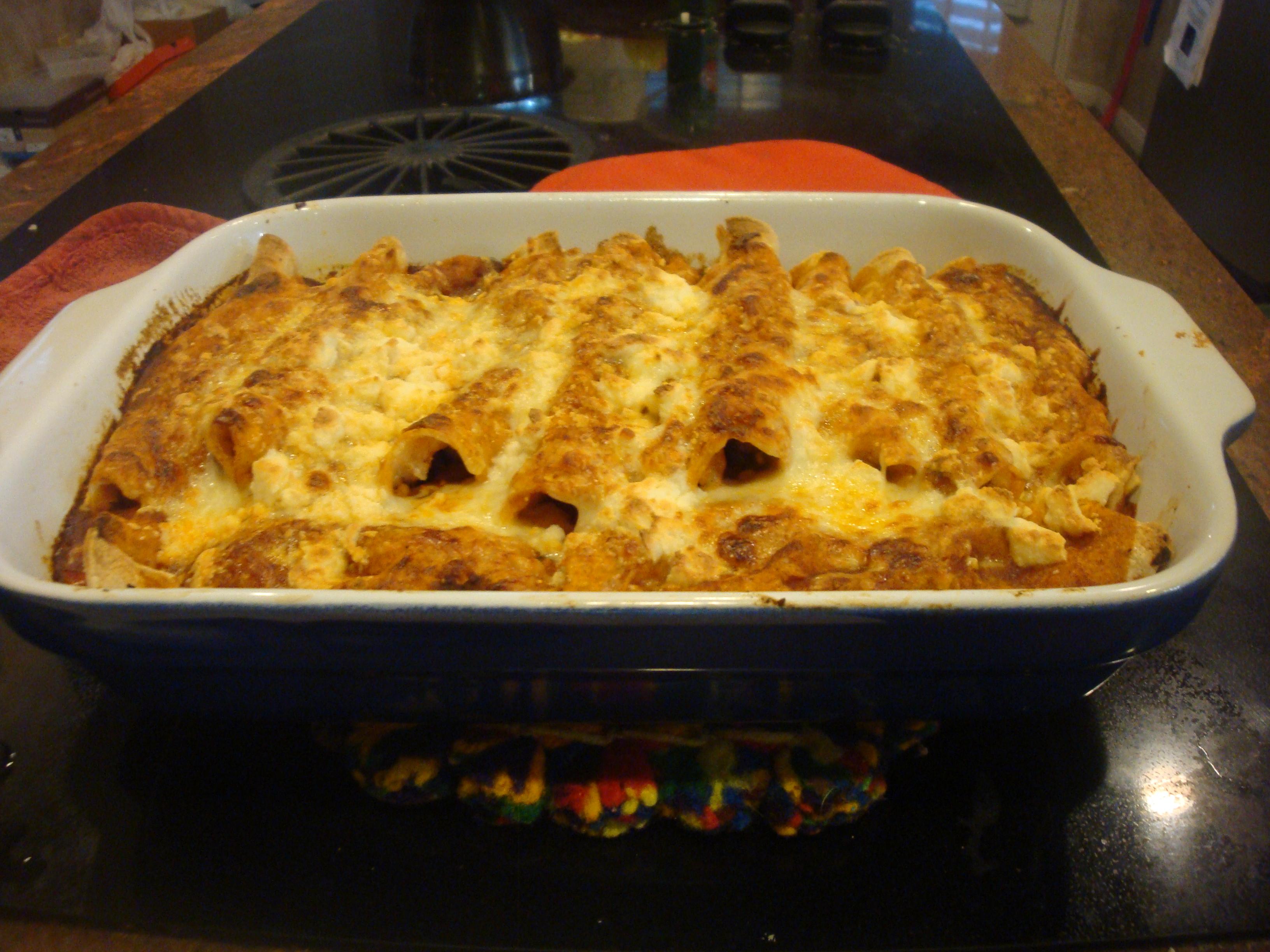 Slow Cooker Enchiladas Recipe — Dishmaps